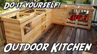 How To Build An Outdoor Kitchen Diy Outdoor Kitchen Youtube