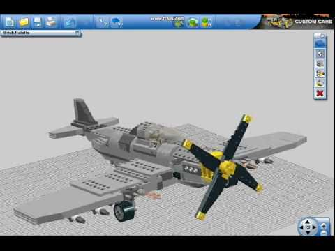 Lego digital designer p51 mustang fighter youtube pronofoot35fo Images