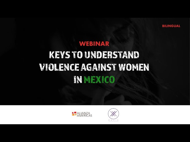 Keys to understand violence against women in Mexico | Webinar