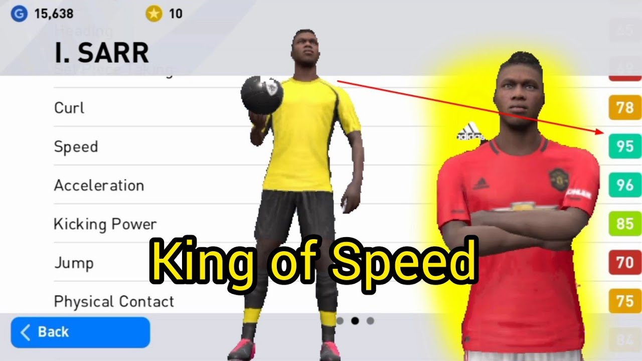 Sarr King Of Speed 95 Pes Mobile 2020 Youtube