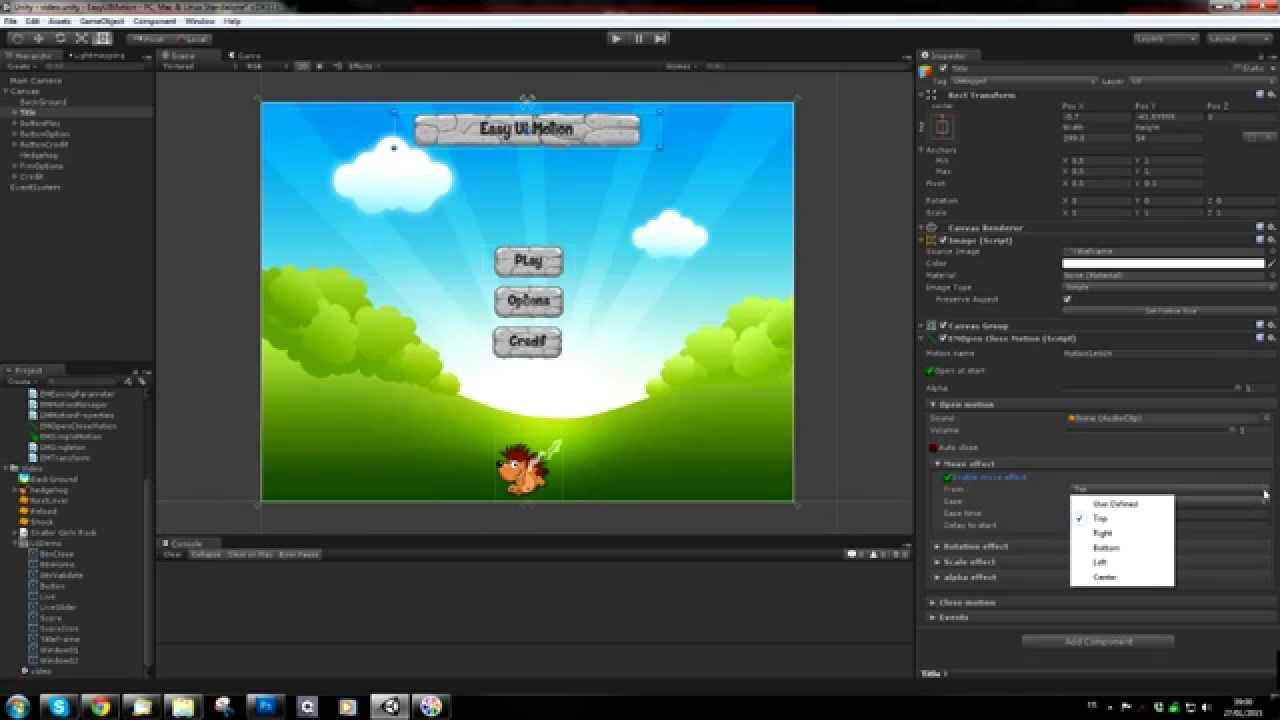 Easy UI Motion : Animate your interfaces for Unity UI
