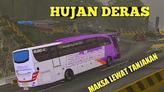 Hujan Deras Bus ini Maksa Lewat Tanjakan | ETS 2 Mod Indonesia