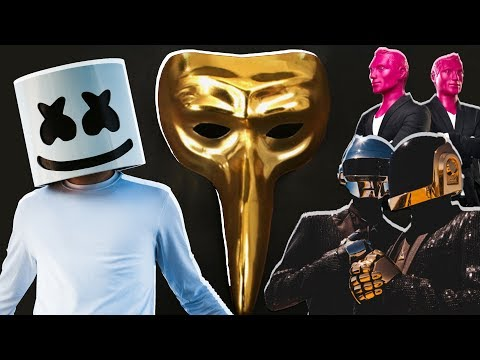TOP 10 most mysterious DJs - Daft Punk, Marshmello, Claptone.....