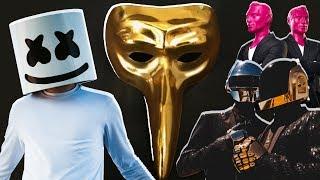 TOP 10 most mysterious DJs - Daft Punk, Marshmello, Claptone.....