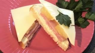Сочный бутерброд с ананасом готовится за пару минут
