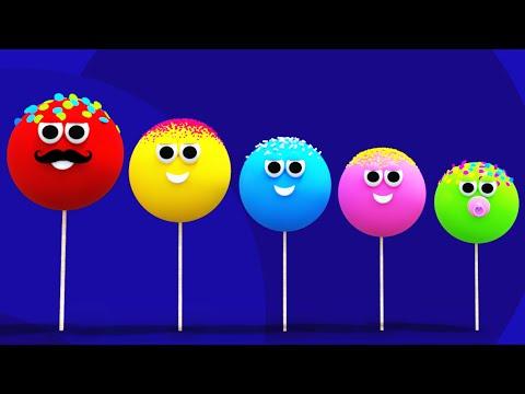 Cake Pop Finger Family Song For Children | Lollipop Finger Family Nursery Rhyme