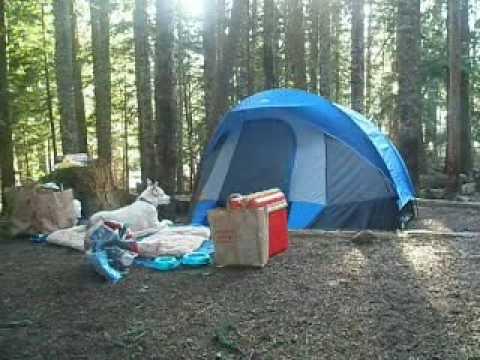 Camping and boating at Lost Lake, May 09 - YouTube