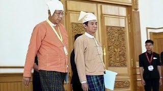"""الخطاب الرسمي الأول ل""""هتين كياو"""" رئيس ميانمار ،الرئيس المنتخب الأول منذ أكثر من 50عاما"""