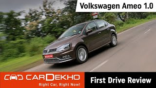 Volkswagen Ameo 1.0 Petrol Review (In Hindi) | CarDekho.com