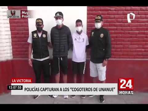 La Victoria: agentes policiales capturaron a 'Los Cogoteros de Unanue'