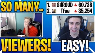 Tfue Reacts To Shroud PASSING Him in Viewers on Twitch NEW BIGGEST STREAMER