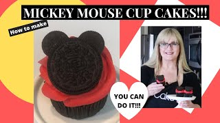How to make MICKEY MOUSE Cup Cakes l Beginner Cake Decorating Tutorial