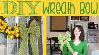 DIY Wreath Bow   #27