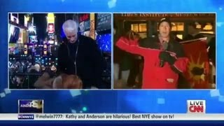 Kathy Griffin Tries to Blow Anderson Cooper On Live TV 12/31/2012