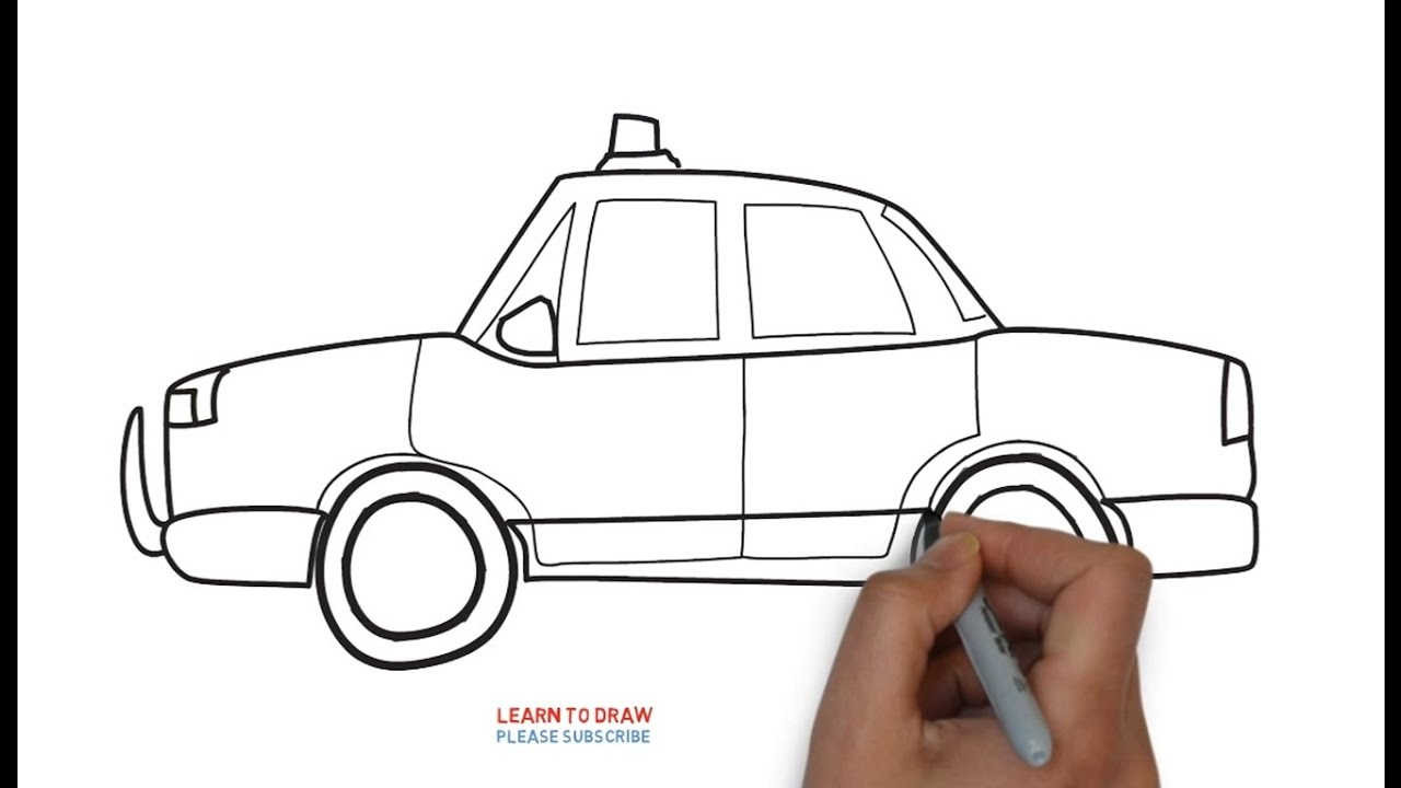 easy step for kids how to draw a police car