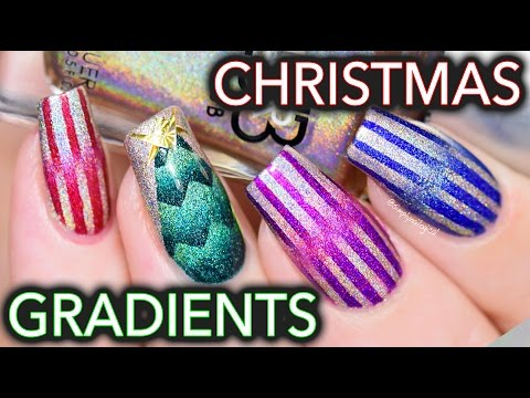 Abstract Christmas nail art to mess with your mind this holiday season