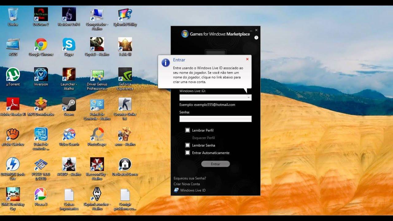 Problema Do Games For Windows Live No Windows 8 Resolvido