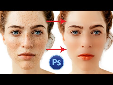 How to Quick Smooth skin & Remove Dark Sports, Photoshop Tutorial Method step-by-step, in Hindi thumbnail