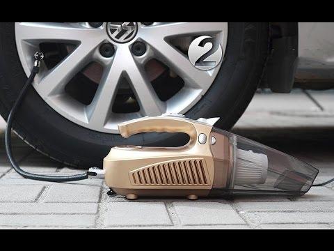 Review Máy Bơm Lốp Xe Mini 4 In 1 Car Vacuum Clean