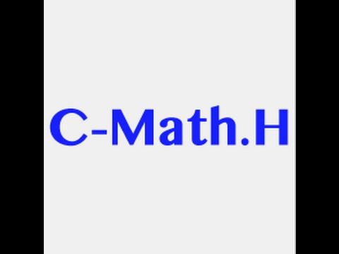 C Programming Language Tutorial- math.h library [sqrt()] in hindi