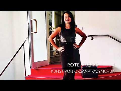 """Temporäre Kunstausstellung """"Rote Treppe"""" mit OKSANA Kyzymschuk"""