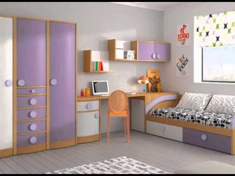 Dormitorios juveniles modulares y con literas youtube for Muebles modulares juveniles