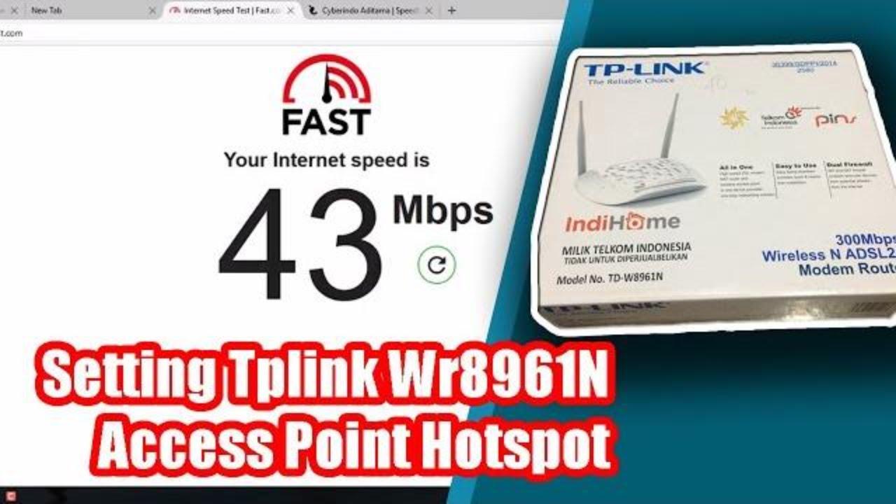 Cara Setting Tp Link Td W8961n Router Bekas Speedy Indihome Menjai Access Point Ap Hotspot Mikrotik Youtube
