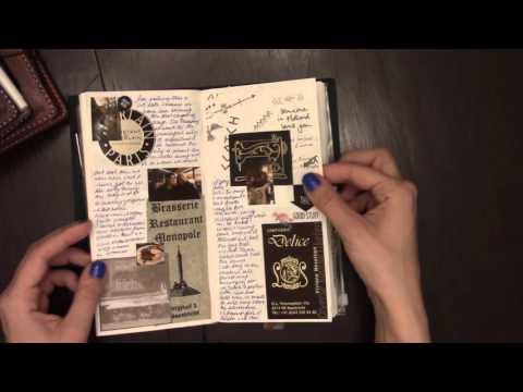 Midori Travel Journal Flip Through (Belgium Trip)