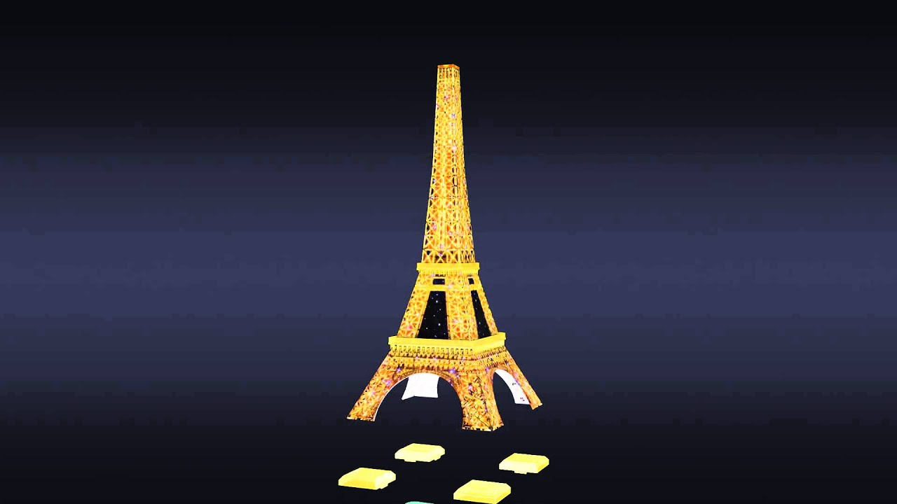 Eiffel Tower With Light 3d Puzzle Youtube