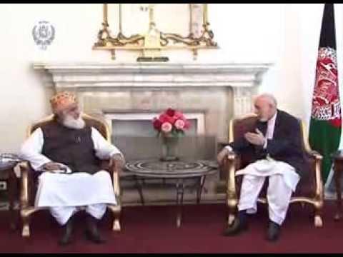 حامد کرزي له مولانا فضل الرحمن سره وکتل
