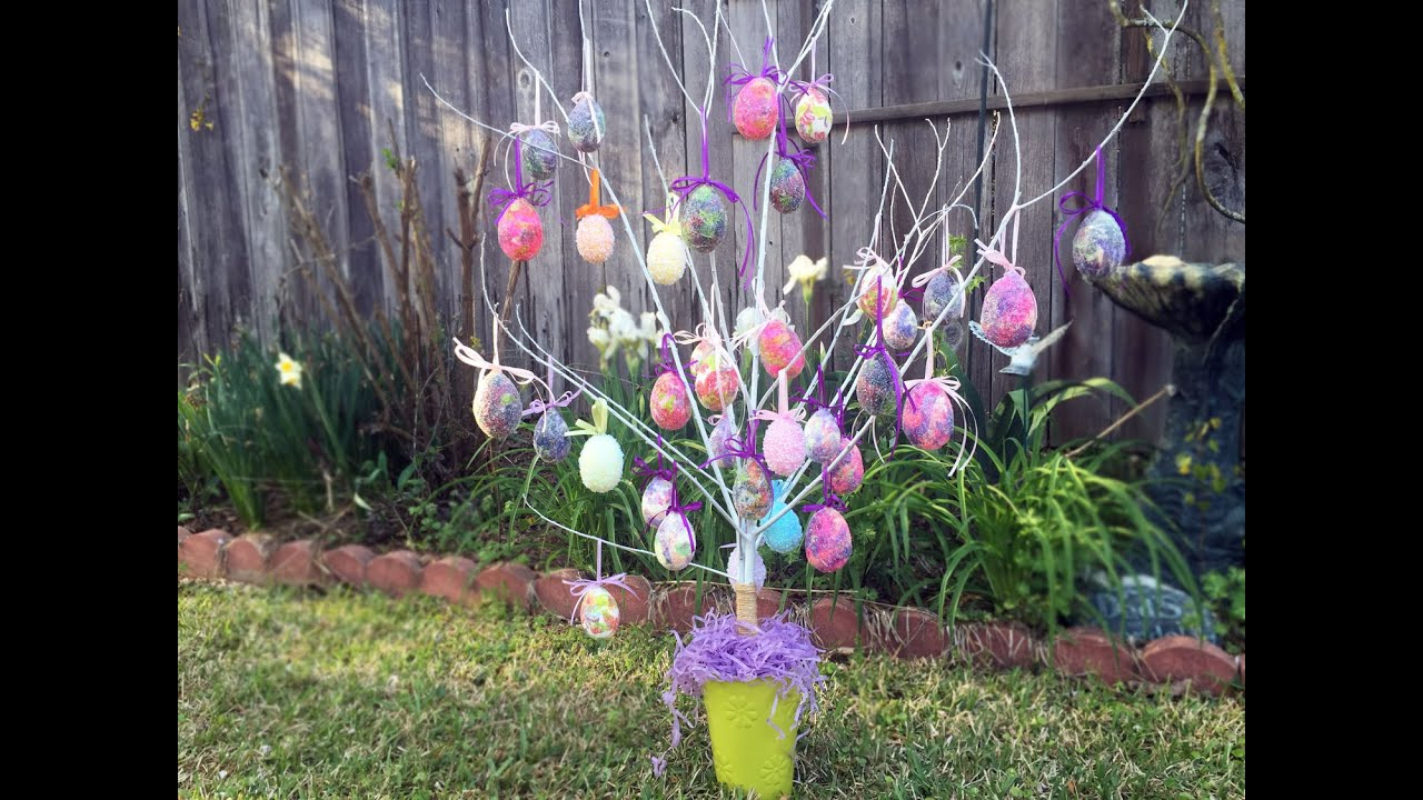 How to make an easter egg tree tutorial youtube How to make an easter egg tree