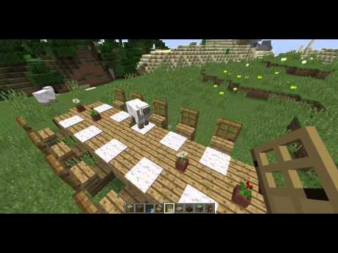 minecraft cr er une table de salon salle manger table haute salle a manger