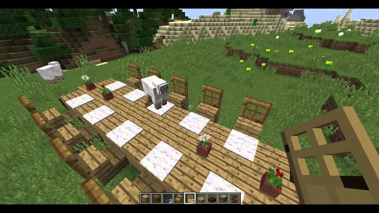Minecraft Cr Er Une Table De Salon Salle Manger 2