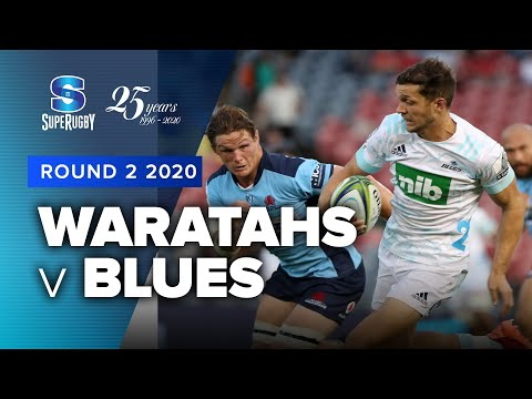 Super Rugby 2020   Waratahs v Blues - Rd 2 Highlights