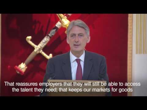 In 90 seconds  Philip Hammond on Brexit talks
