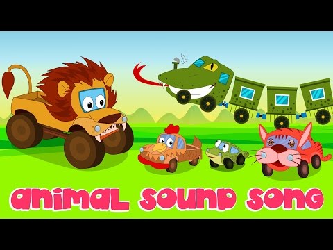 Animal Sound Song  Nursery Rhymes  Kids Song  Car Rhyme