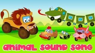Animal Sound Song | Nursery Rhymes | Kids Song | Car Rhyme