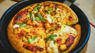 Pizza Hut in INDIA is DELICIOUS! Spicy INDIAN Pizza | Kolkata, India
