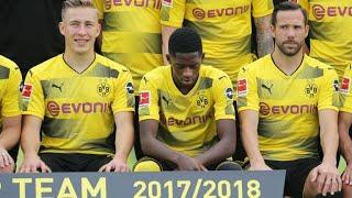 Dembélé posiert fürs BVB-Mannschaftsfoto, aber Barca macht ernst