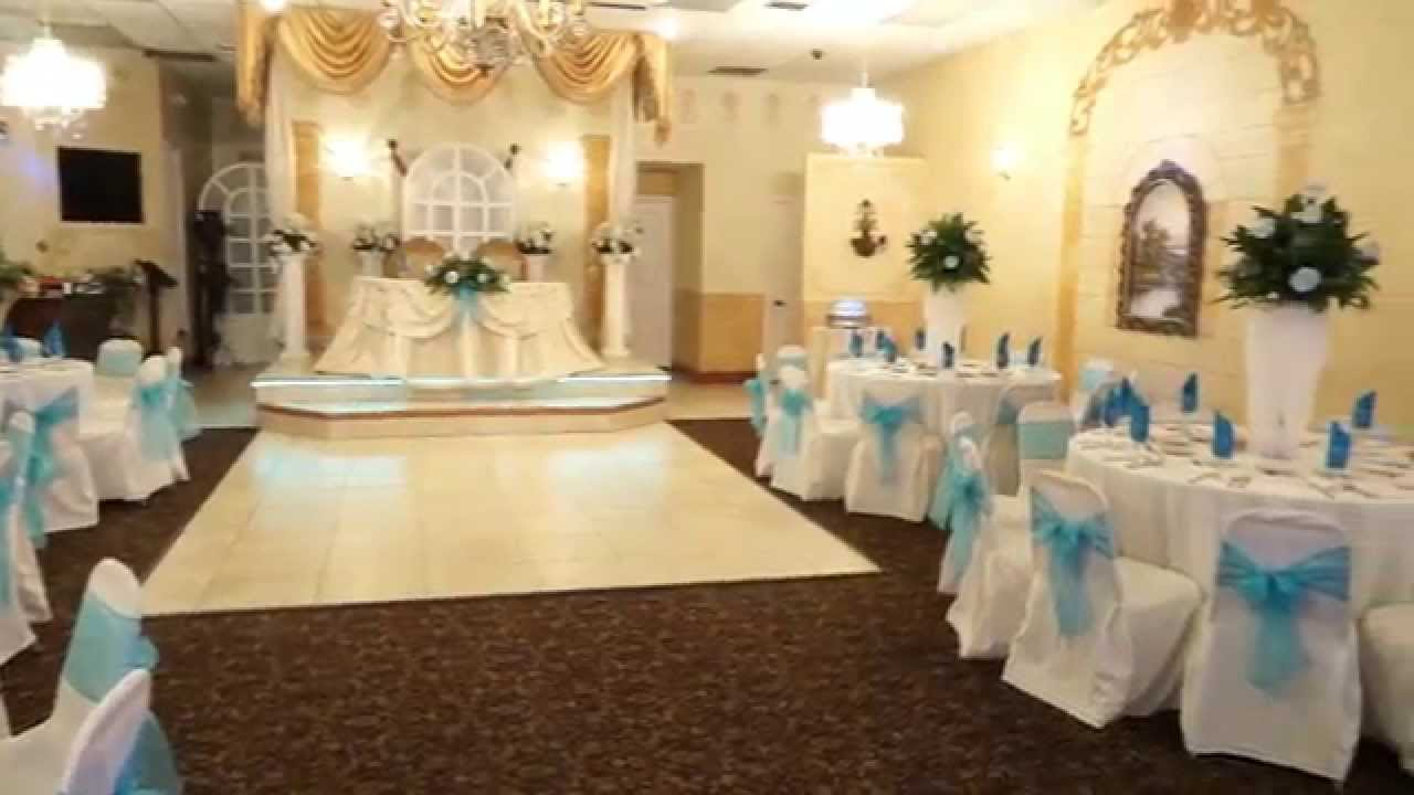 Reception Hall Decorations.  Oasis Banquet Hall Baby Shower 031515 YouTube