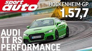 Audi TT RS Performance | Hot Lap Hockenheim-GP | sport auto