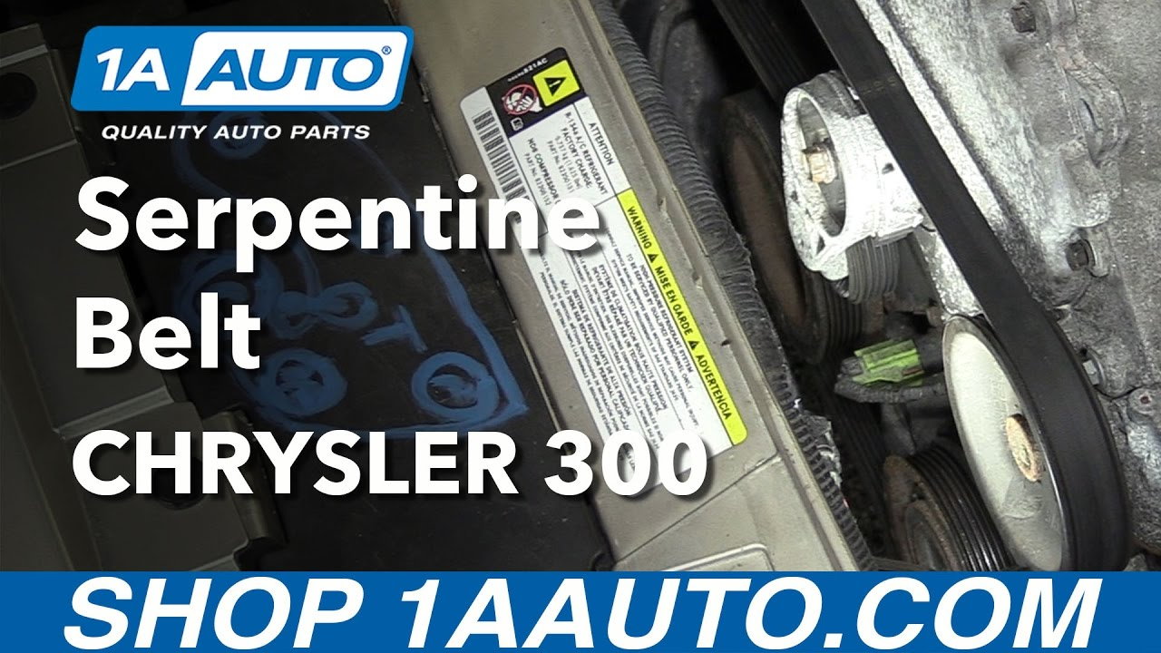 How to Replace Serpentine Belt 0510 Chrysler 300  YouTube
