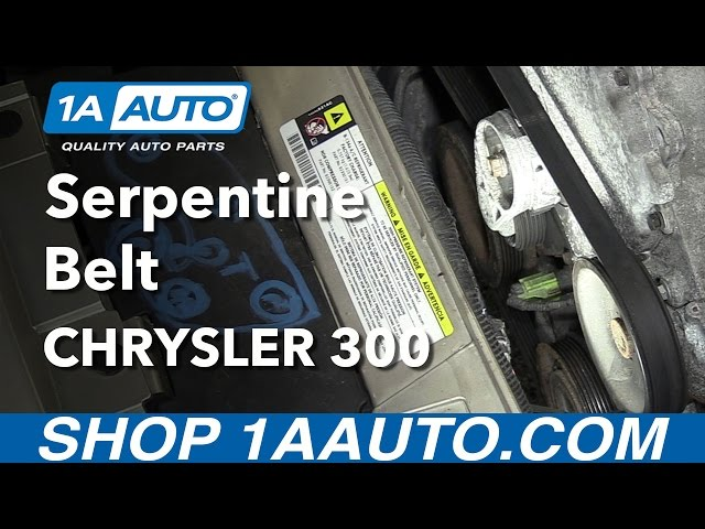 How To Replace Serpentine Belt 05 10 Chrysler 300 1a Auto