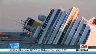 Cruise ship Sinking  Infared Rescue