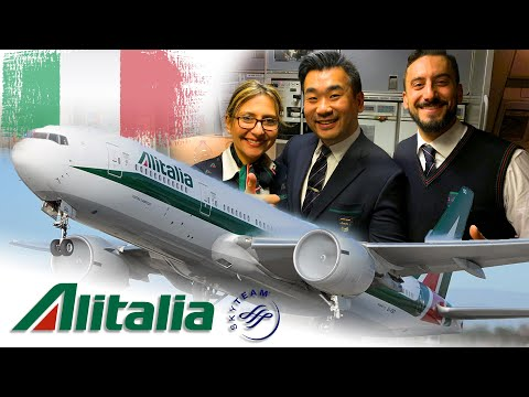 ITALIAN STYLE - ALITALIA 'MAGNIFICA CLASS' B777 flight