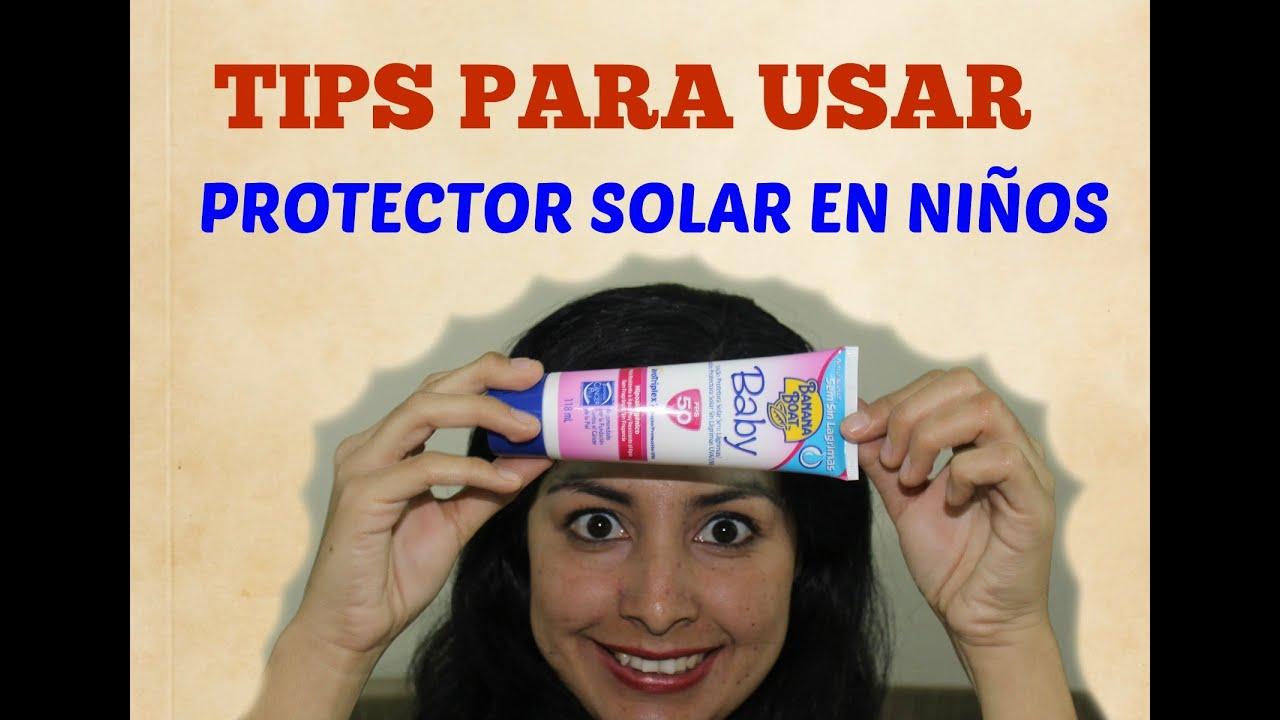 Tips para usar protector solar en ni os sorteo youtube - Protector chimenea ninos ...