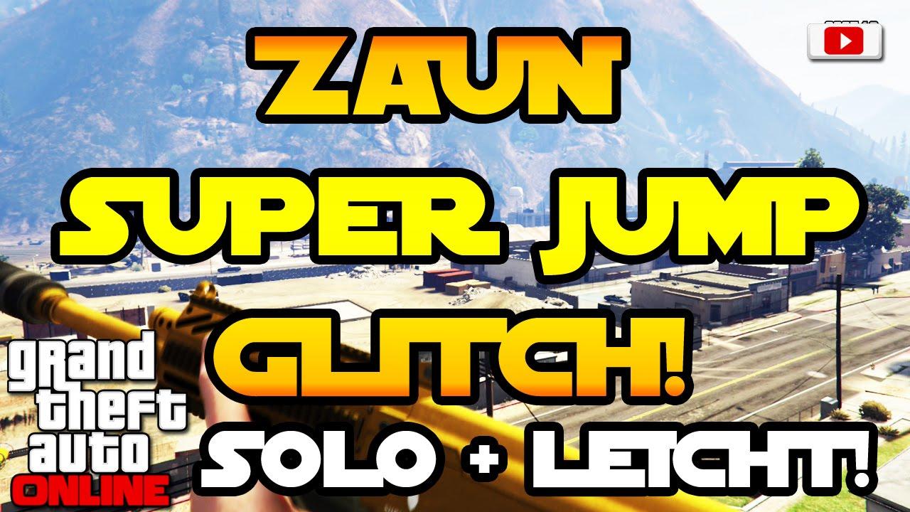 Grand Theft Auto 5 line Zaun Super Jump Glitch [SOLO Fun