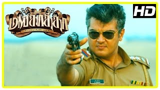 Mankatha Tamil Movie Scenes | Ajith Intro | Ajith fights police to save Aravind Akash | Thala 50