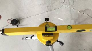 Harbor Freight Pittsburgh 16in Laser level review, 360 degree rotating head