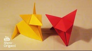 #Оригами: Египетская #кошка из бумаги (#Origami: Egyptian #cat paper)